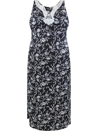 Black Plus Size Sleeveless Dress