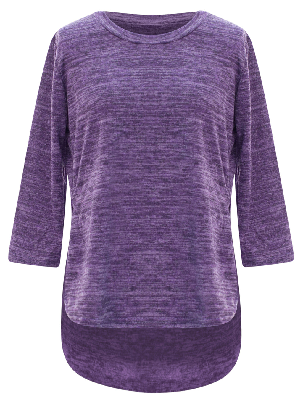 Purple Loose Fit Plus Size Hi-Lo Top