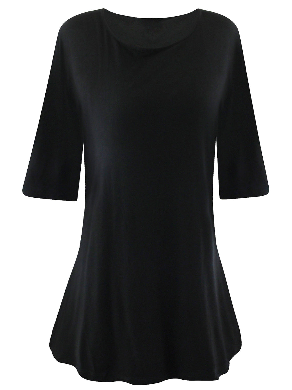 Womens Bell Sleeve Loose Fit Tunic Top