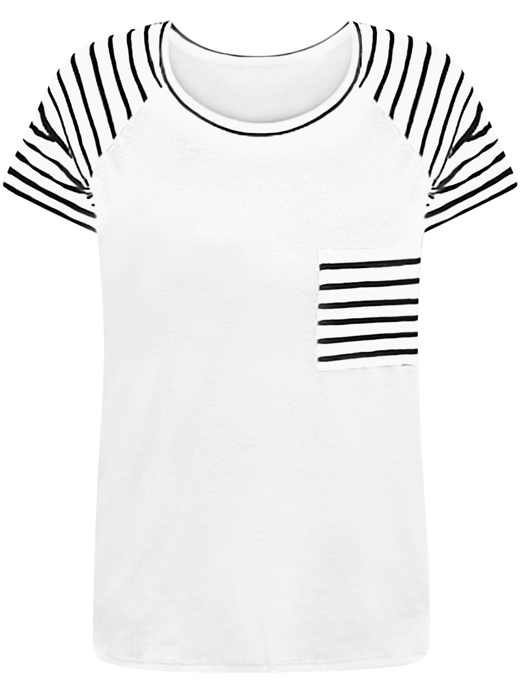 Black & White Striped Plus Size T-Shirt