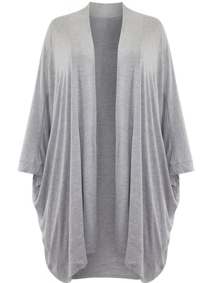 Jersey Knit Open Front Plus Size Cardigan
