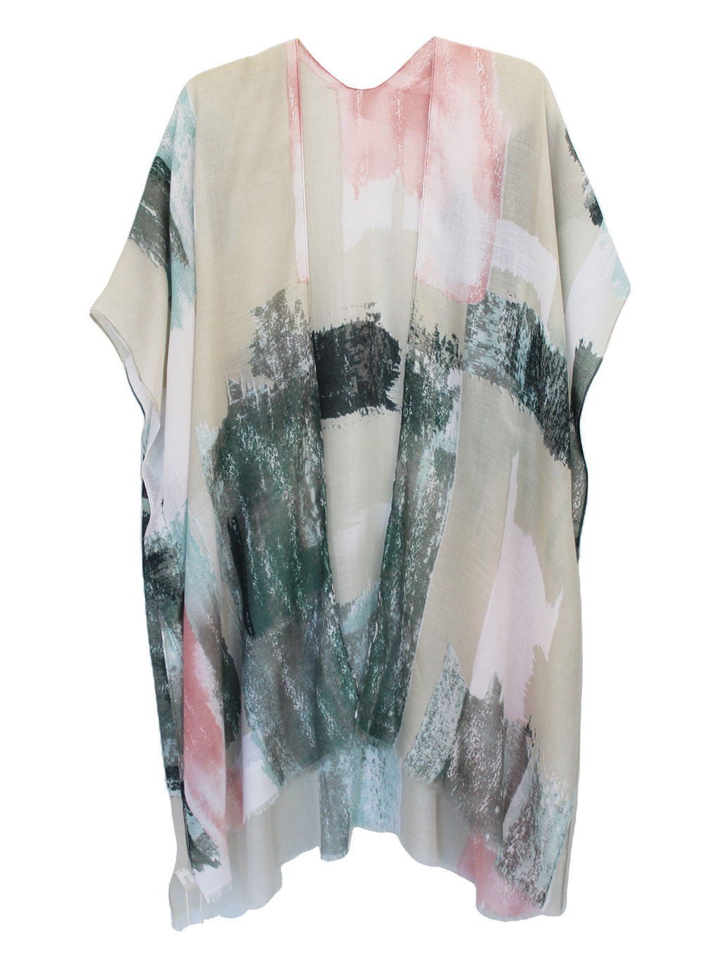 Art Deco Abstract Print Kimono Style Beach Cover Up
