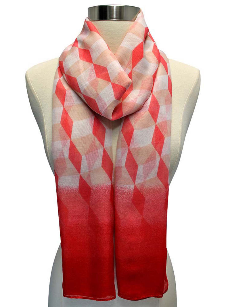 Coral Ombre Diamond Print Wrap