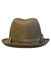 Brown Fedora Hat With Buckle Hat Band