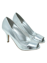 "Peep Toe 3"" Heel Metallic Pumps For Women"