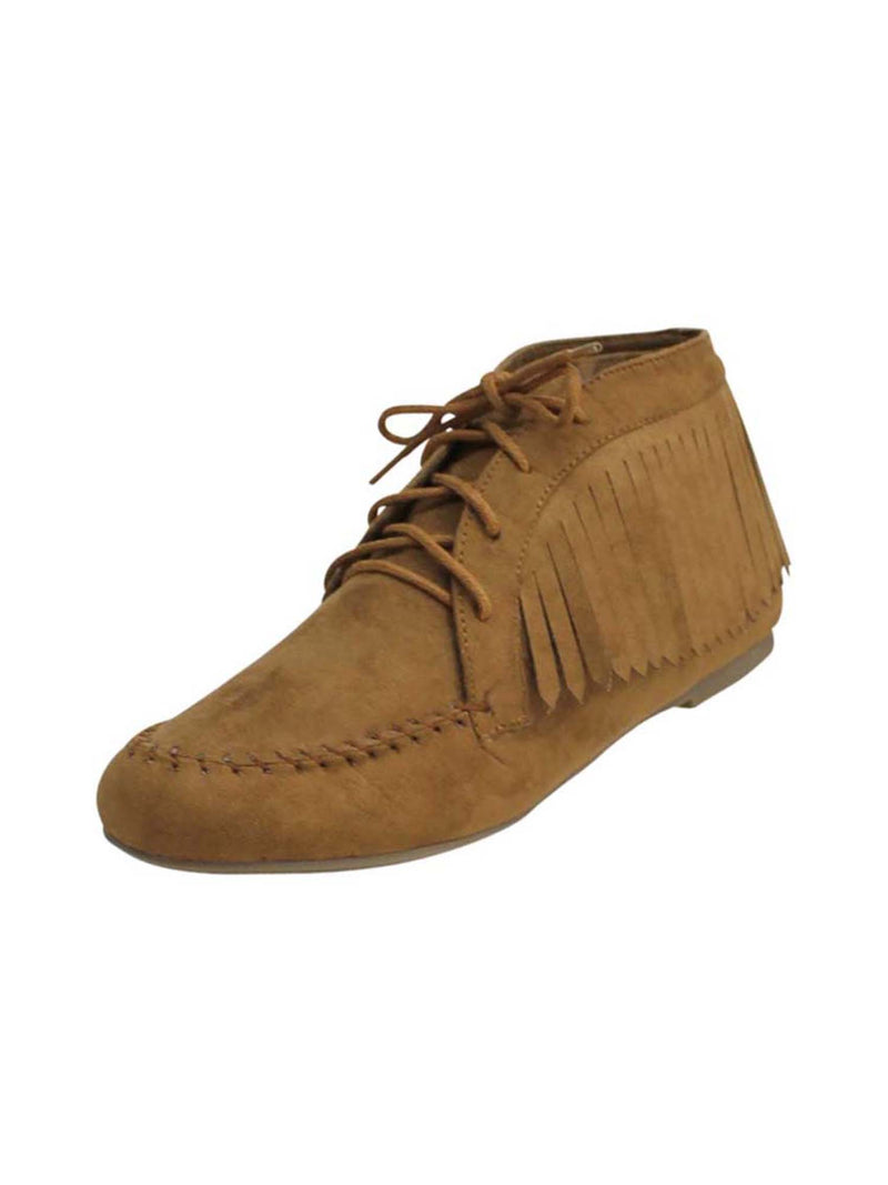 Women's Fringed Moccasin Ankle Booties