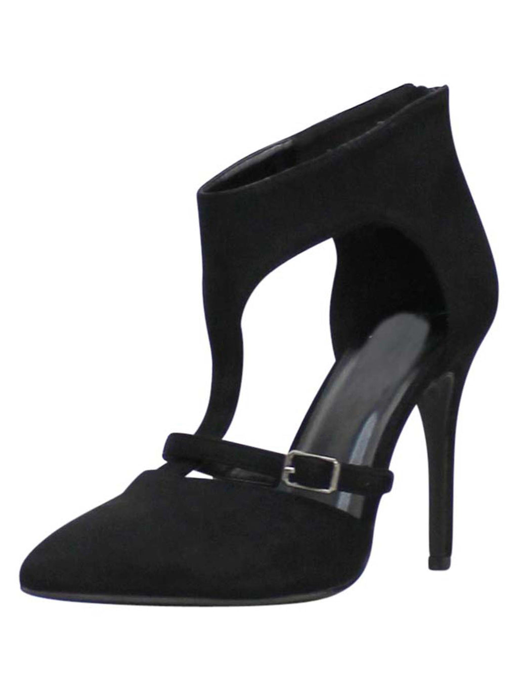 Black Strappy Dress Pumps For Women