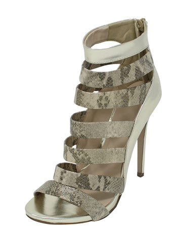 Snakeskin Womens Strappy High Heel Pumps