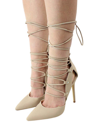 High Heel Lace-Up Pumps For Women