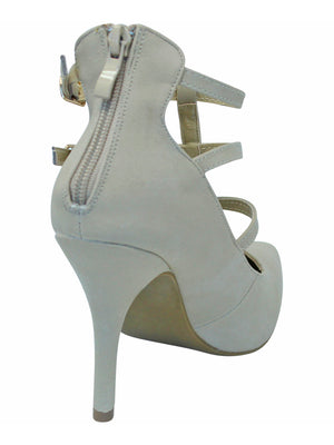 Buckled Womens High Heel Pumps