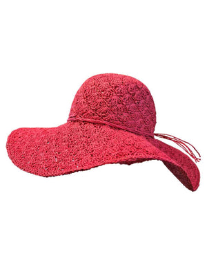 Fuchsia Toyo Wide Brim Floppy Hat