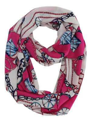 Wagon Wheel Nautical Anchor Infinity Scarf