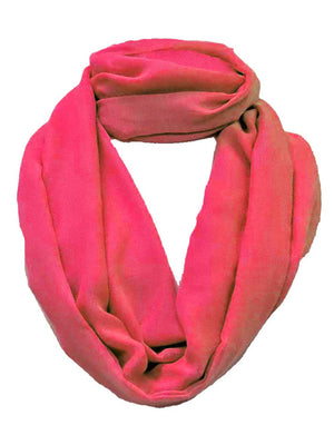 Fuchsia Simple Style Eternity Scarf