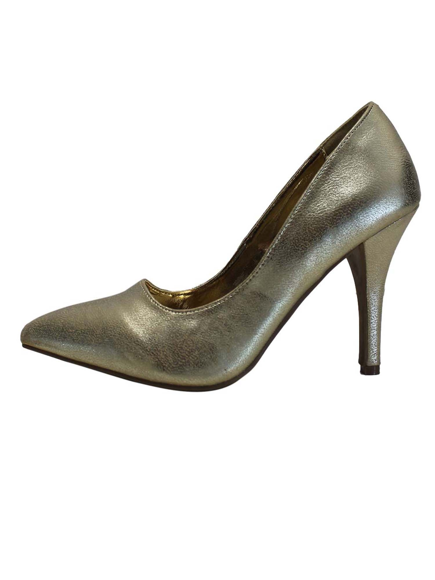 Metallic Pointed Toe Women's Pumps
