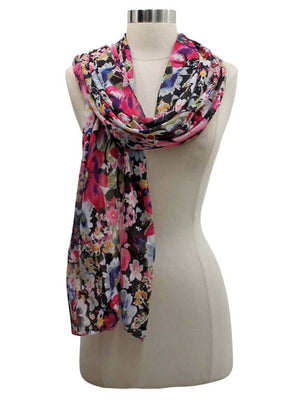 Vibrant Colorful Floral Spring Shawl Wrap