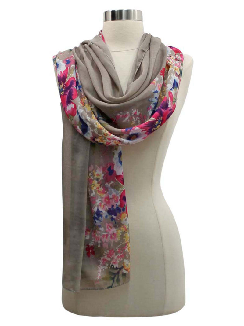 Lightweight Summer Blossoms Scarf Wrap