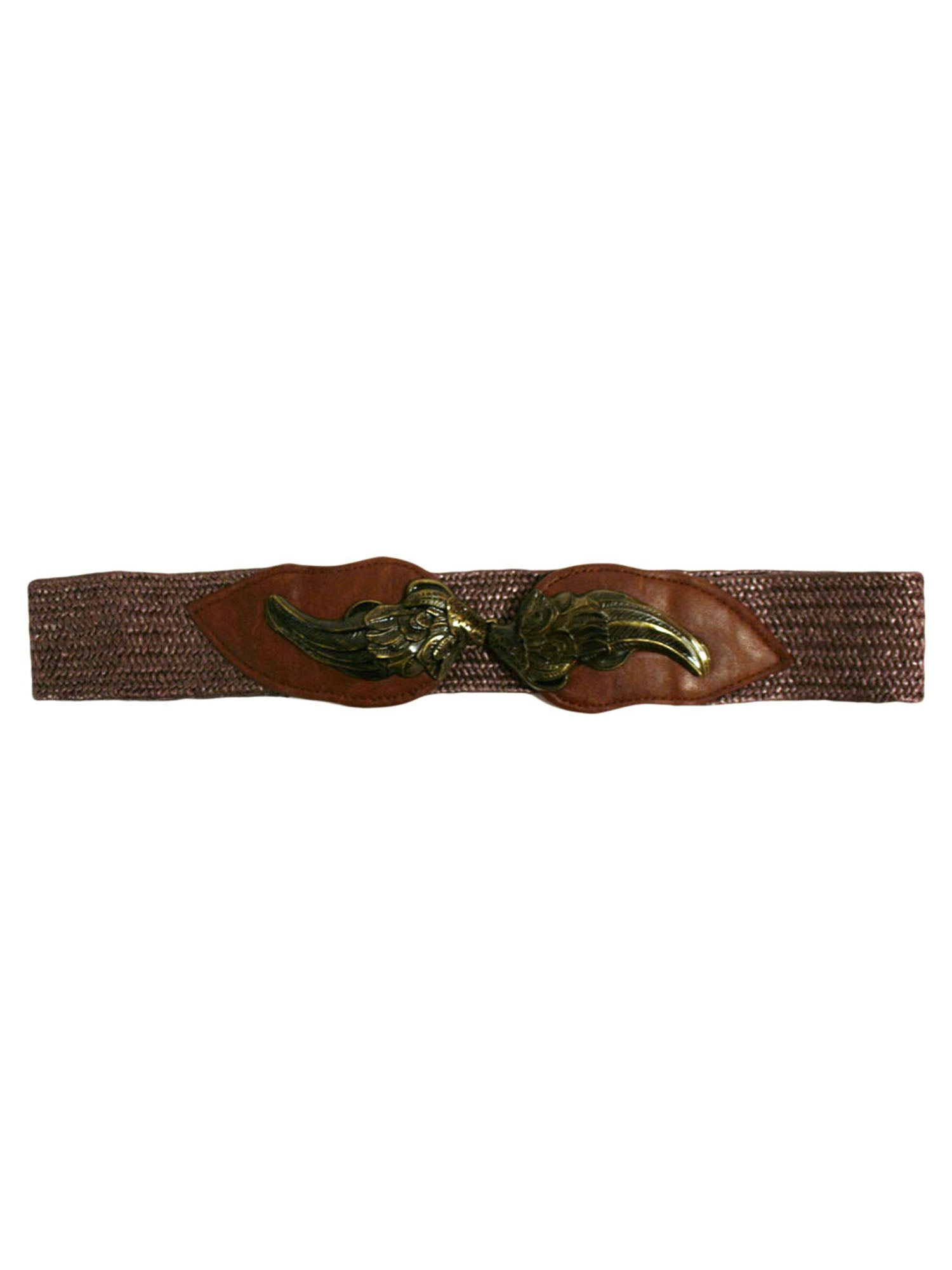 Elaborate Metal Wing Buckle Stretchy Waist Belt