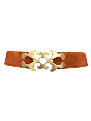 Waist Belt With Antiqued Gold Buckle