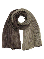 Brown & Beige Double Sided Infinity Knit Scarf