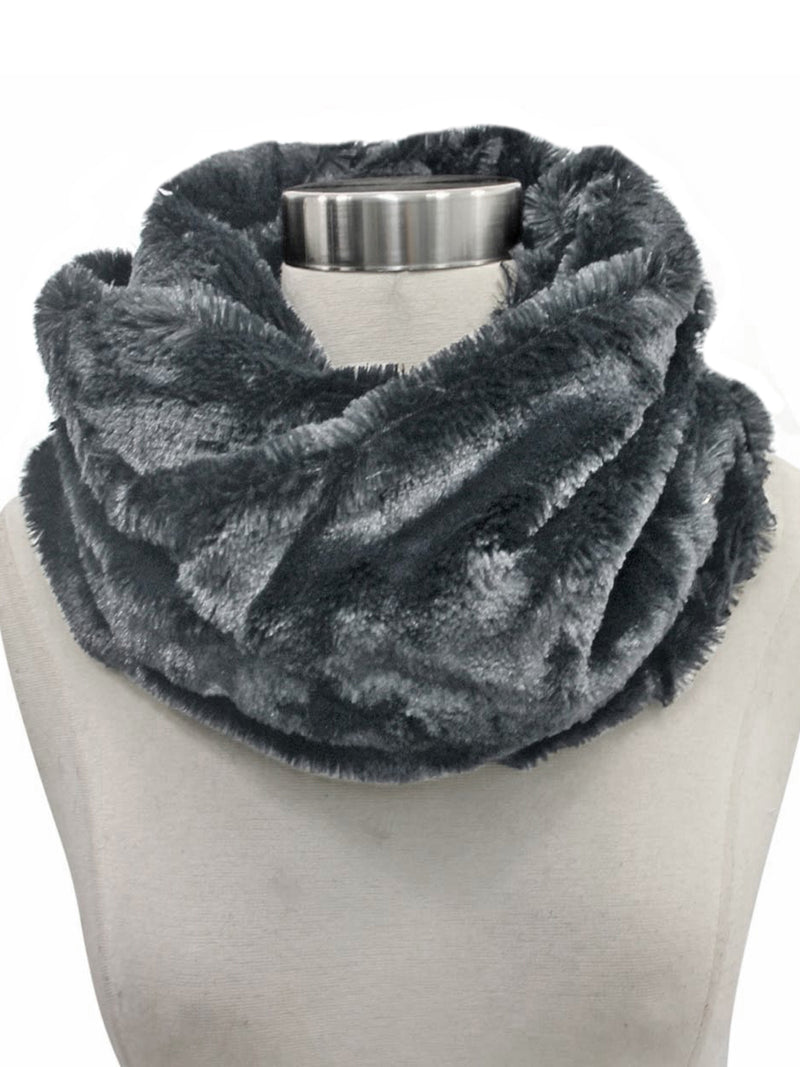 Faux Fur Infinity Neck Warmer Winter Scarf