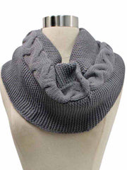 Chunky Cable Knit Winter Infinity Scarf