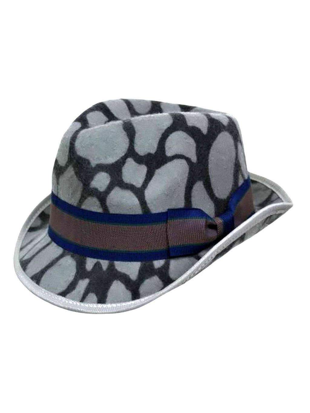 Animal Print Wool Fedora Hat