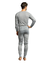 Men's Thermal Crew Neck Top & Bottoms Long Johns Underwear Set