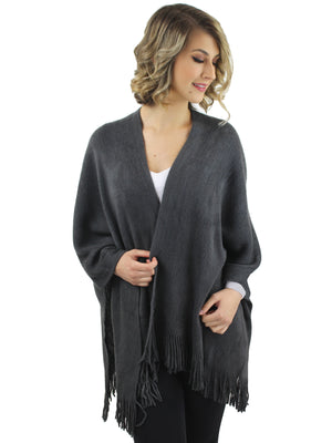 Ultra Soft Knit Poncho Shawl