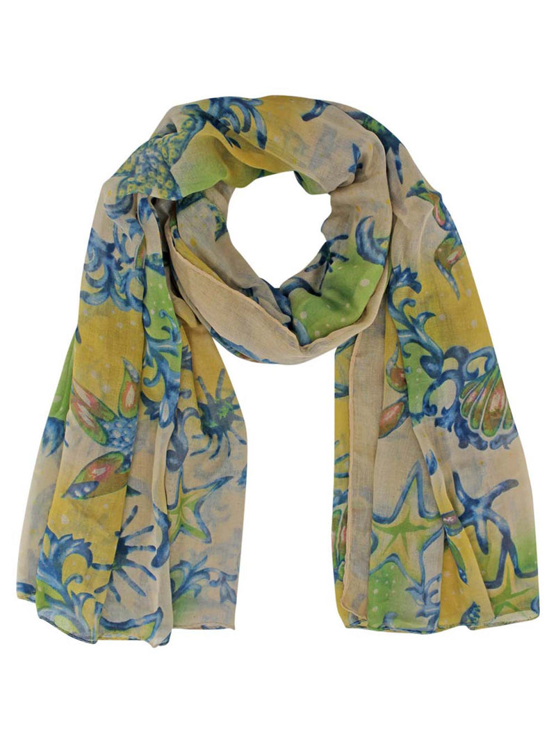 Fantasy Print Whimsical Summer Scarf