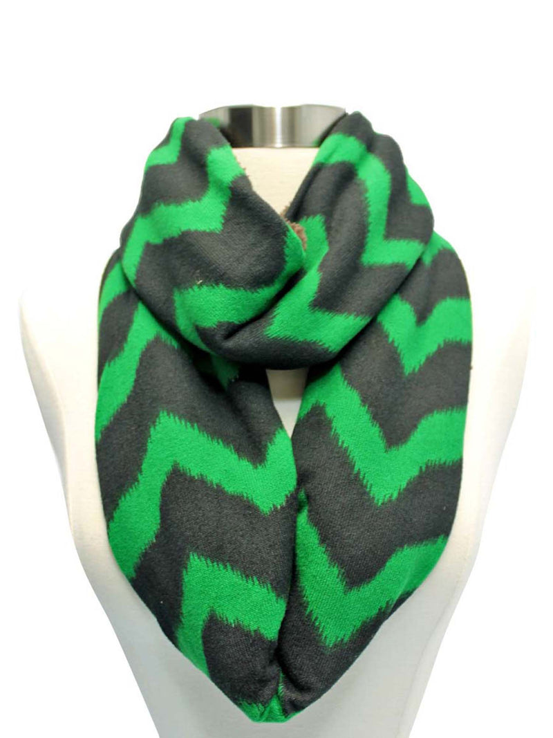 Chevron Striped Fleece Infinity Scarf