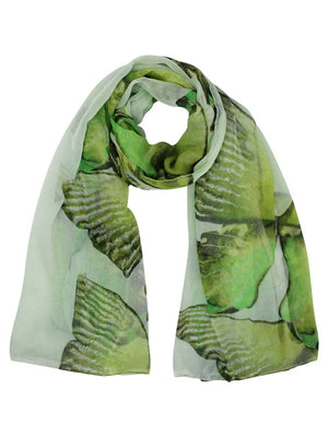 Tropical Floral Print Scarf Wrap