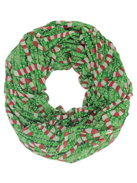 Candy Cane Holiday Soft & Silky Infinity Scarf