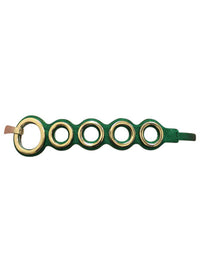 Circle Clustered Fashion Belt With Gold Hardware