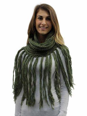 Infinity Scarf With Long Dramatic Tassel Fringe