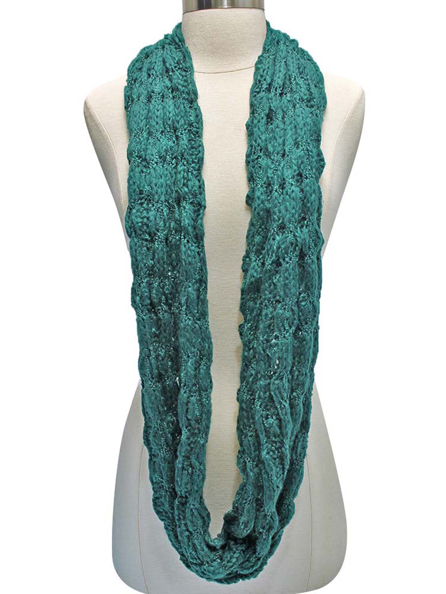 Winter Bubble Knit Infinity Circle Scarf