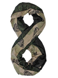 Two-Tone Twill Paisley Print Infinity Scarf