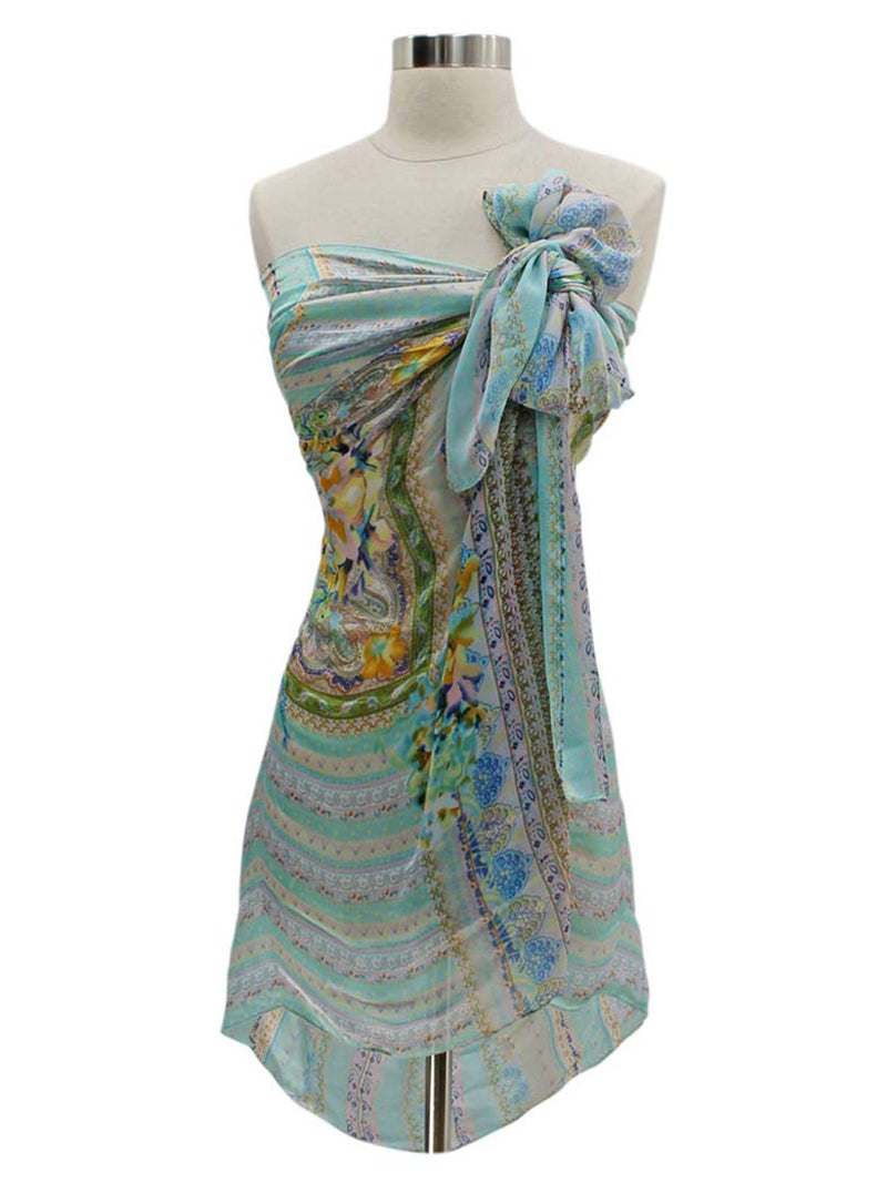 Floral Paisley Satin Lightweight Scarf For Women