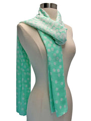 Gradient Polka Dot Summer Scarf