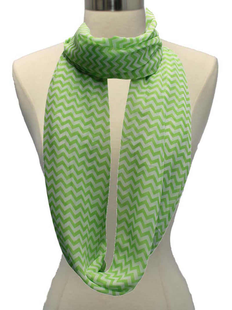 Zigzag Chevron Light Infinity Scarf
