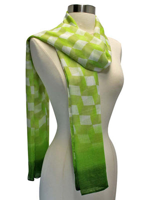 Green Ombre Diamond Print Wrap