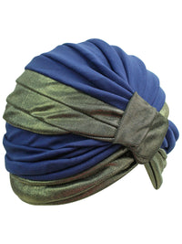 Gold Trim Fashion Turban Head Wrap For Women