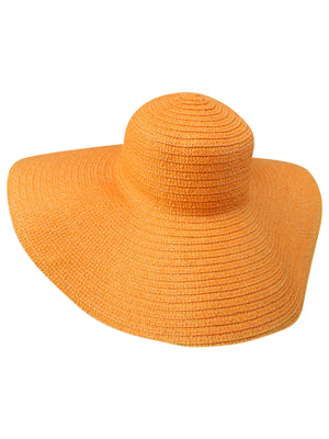 Wide Brim Sun Hat With Satin Bow