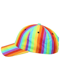 Rainbow Striped Baseball Cap Hat