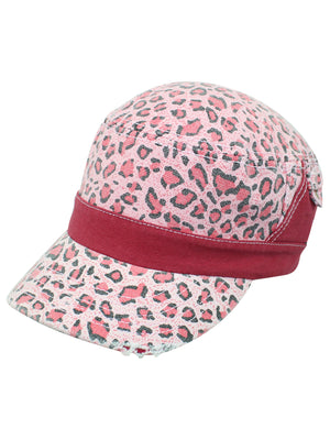 Leopard Animal Print Cotton Cadet Cap