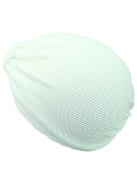 Thin Pleated Polyester Turban Head Wrap For Women