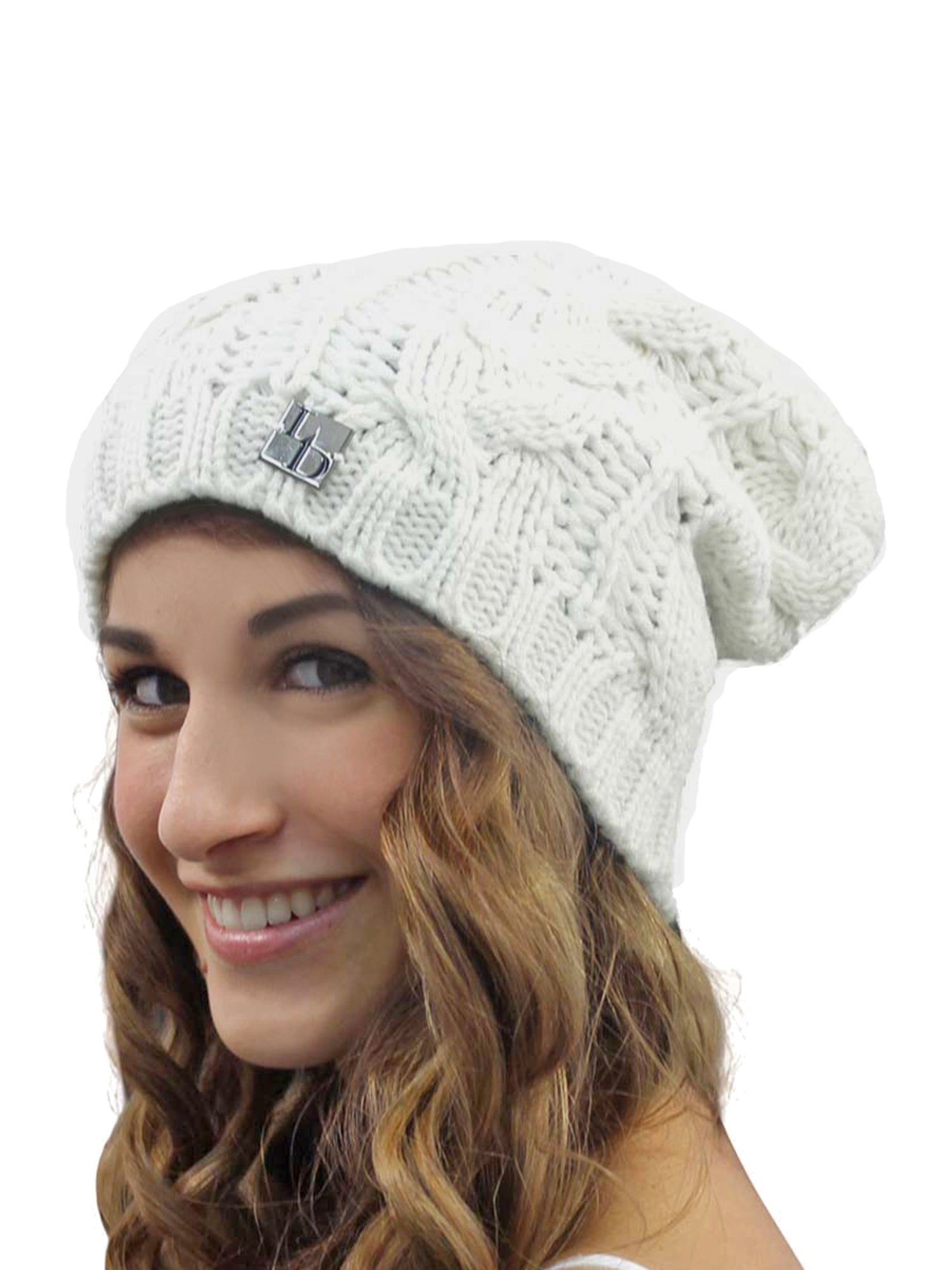 Slouchy Cable Knit Unisex Beanie Cap Hat