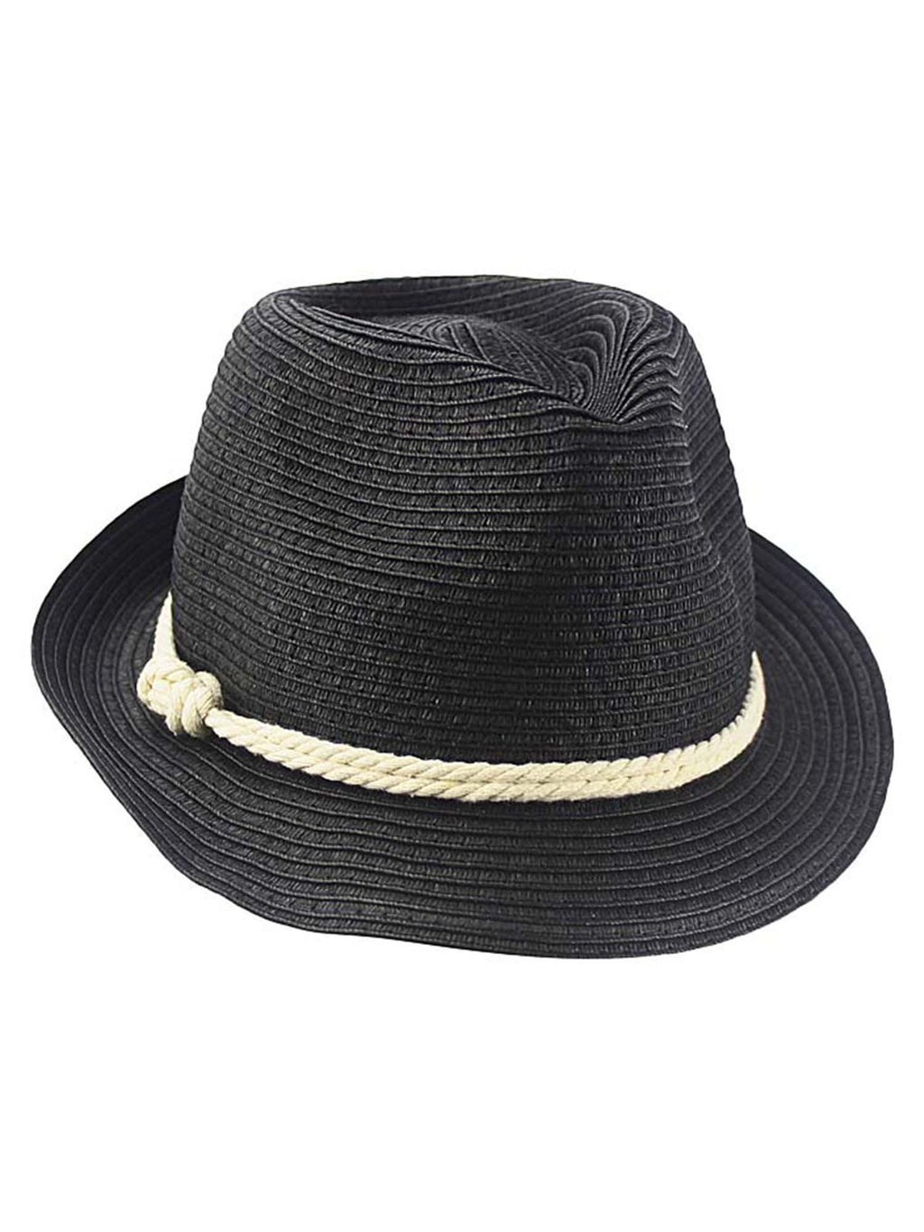 Summer Fedora Hat With Nautical Rope Band