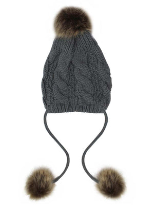 Handcrafted Cable Knit Pom Pom Beanie Hat