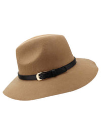 Panama Style Wool Fedora Hat With Buckle