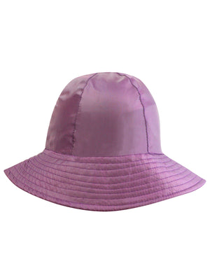 Purple Reversible Rain Or Sun Style Bucket Hat